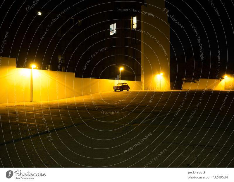 Monthly pass holder 1.0 Illuminate Concrete Downtown Berlin Parking lot Night sky Vintage car Parking lot lighting