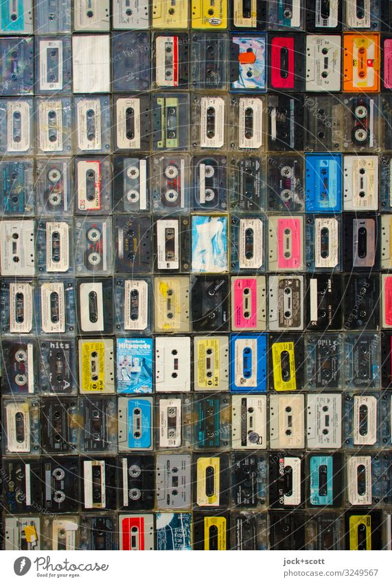music pool Joy Moody Design Decoration Authentic Uniqueness Stripe Many Plastic Collection Sharp-edged Analog Tape cassette Subculture Entertainment electronics