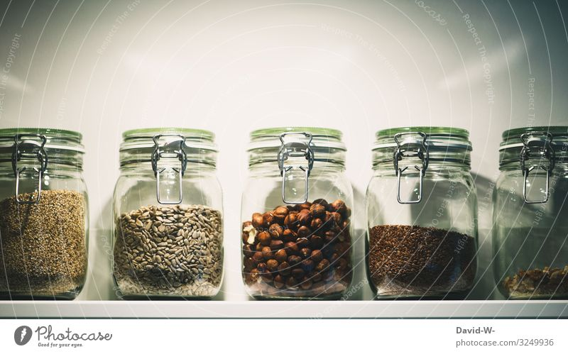 Food in jars Grain Dough Baked goods Nutrition Organic produce Vegetarian diet Lifestyle Shopping Luxury Elegant Style Design Money Save Healthy