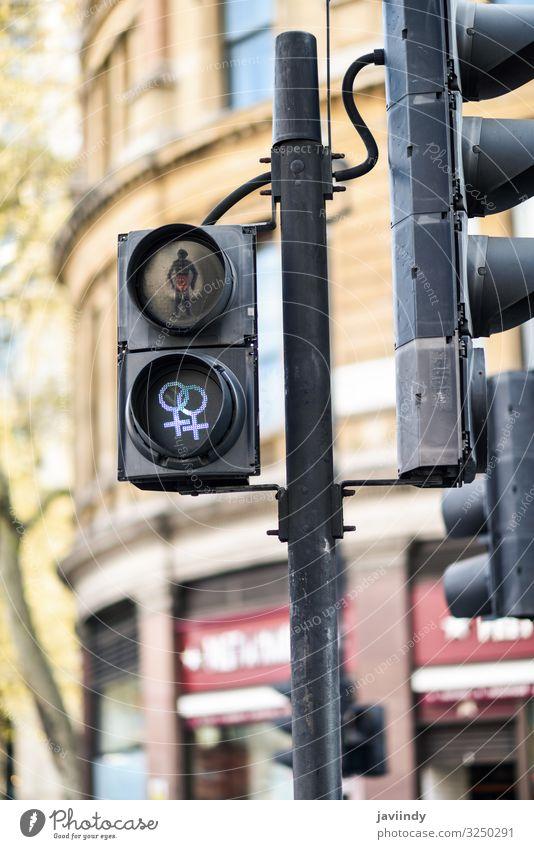 LGBT pedestrian traffic light signals symbolizing equality Vacation & Travel Decoration Homosexual Traffic light Acceptance pedestrian traffic lights lgbt