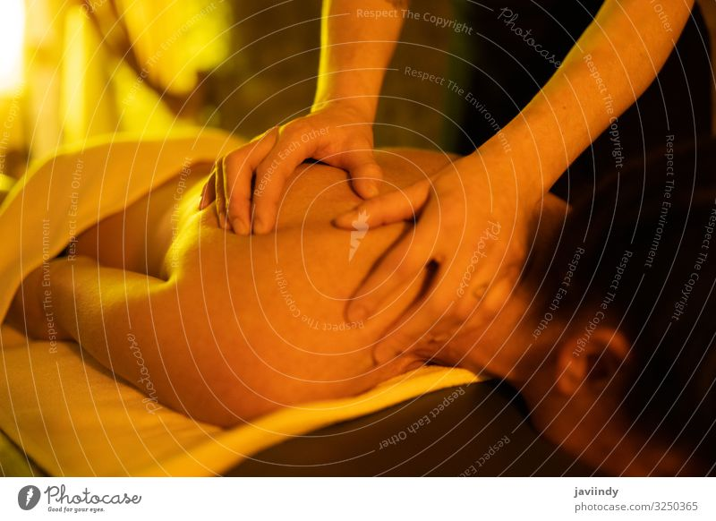 Woman receiving back massage in Arab Baths Human being Youth (Young adults) Young woman Beautiful White Hand Relaxation 18 - 30 years Lifestyle Adults Feminine