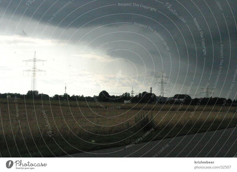 Summer Clouds Rain Environment Driving Thunder and lightning Broken Motoring Vicinity Augsburg Mood lighting
