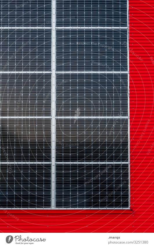 # Energy industry Renewable energy Solar Power Facade Metal Save Red Environmental protection Future Solar cell Eco-friendly Alternative Power consumption