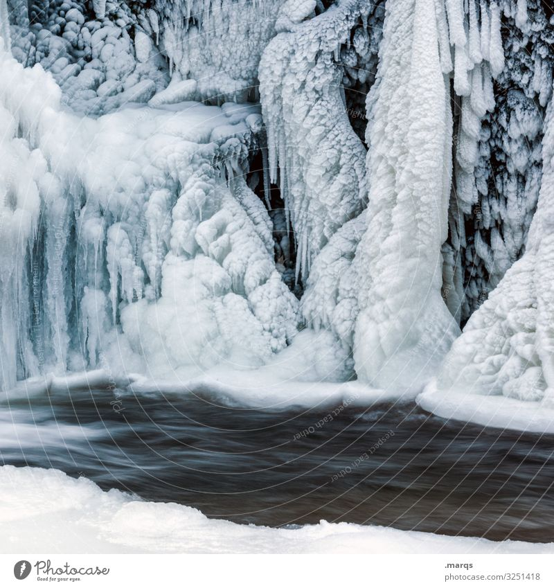 colder Nature Elements Water Winter Ice Frost River Waterfall Triberg Icicle Perpetual ice Cold Complex Environment Colour photo Exterior shot