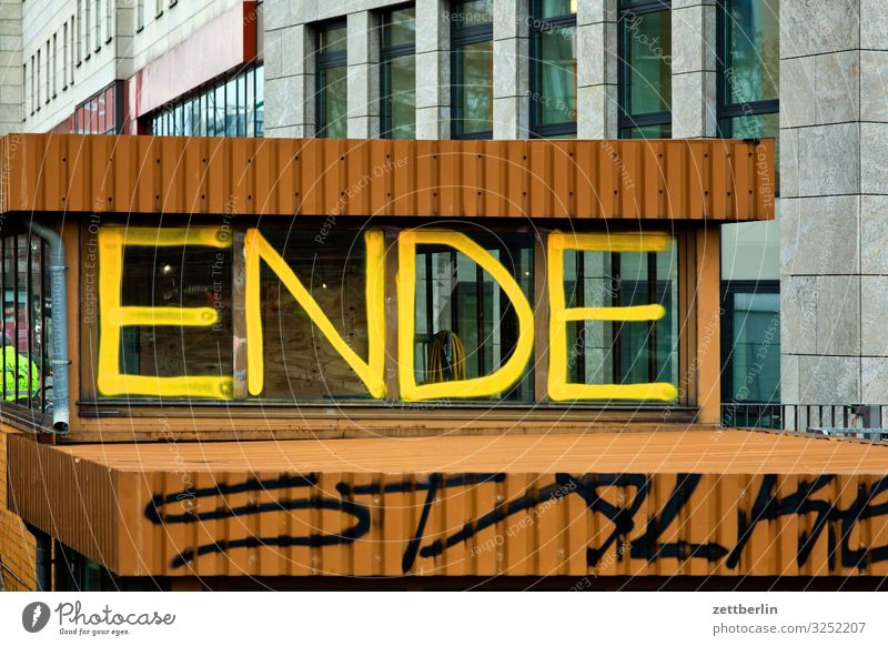 end End Characters Graffiti Tagging (graffiti) Keyword Lettering Letters (alphabet) Divide Couple Relationship Business partnership Architecture Berlin City
