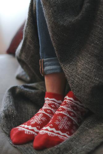 Cozy christmas socks Lifestyle Joy Happy Relaxation Winter House (Residential Structure) Decoration Christmas & Advent Woman Adults Feet Autumn Jeans To enjoy