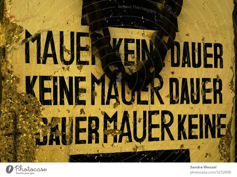 wall Human being Exhibition Berlin Downtown Berlin Germany Capital city Wall (barrier) Wall (building) Sign Threat Together Gigantic Infinity Anger Emotions
