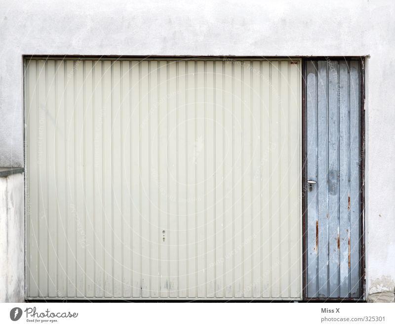 White Gray Flat (apartment) Closed Gloomy Gate Garage Garage door