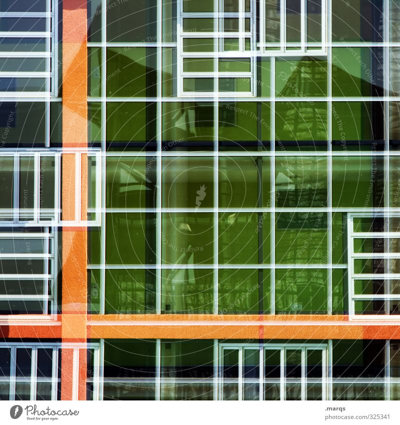 All only facade Elegant Style Design Facade Window Line Exceptional Hip & trendy Uniqueness Maritime Colour Arrangement Double exposure Mosaic Colour photo
