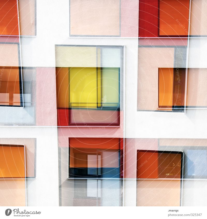 Beautiful White Red Window Yellow Architecture Style Background picture Exceptional Line Lifestyle Facade Orange Design Elegant Modern