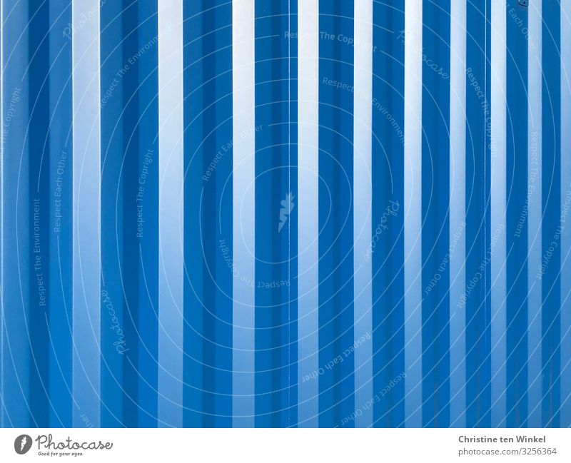 blue container wall Container Metal Stripe Esthetic Exceptional Happiness Fresh Glittering Cold Near Beautiful Blue Design Colour Idea Uniqueness Creativity