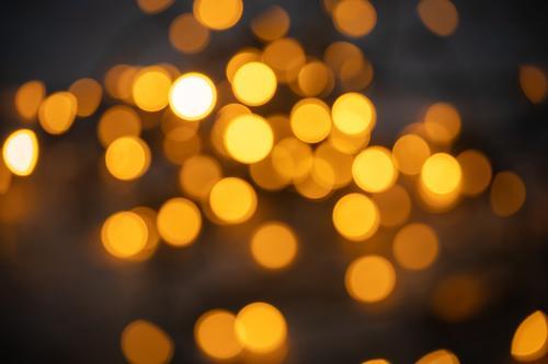 golden hour Night life Event Feasts & Celebrations Christmas & Advent New Year's Eve Wedding Illuminate Gold Orange Emotions Fairy lights Blur Moody