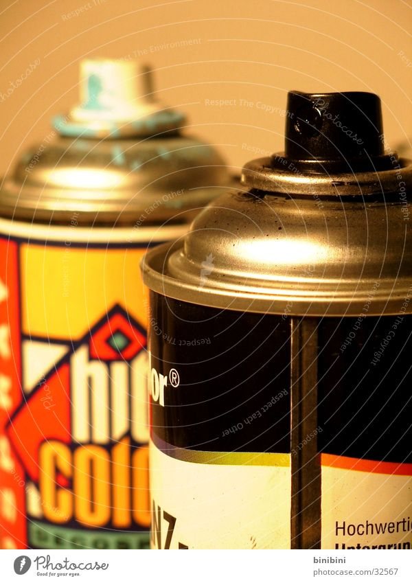 Spray can2 Multicoloured Tin Style Photographic technology Colour Graffiti