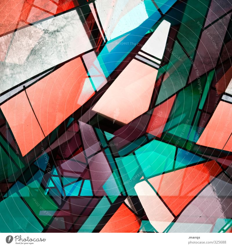 Window abstract Lifestyle Elegant Style Design Glass Exceptional Cool (slang) Hip & trendy Uniqueness Modern Crazy Multicoloured Chaos Colour Perspective