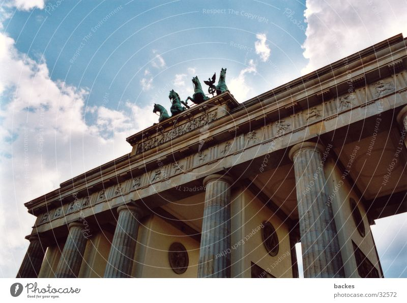 large gate_1 Large Horse Architecture Brandenburg Gate Berlin Open