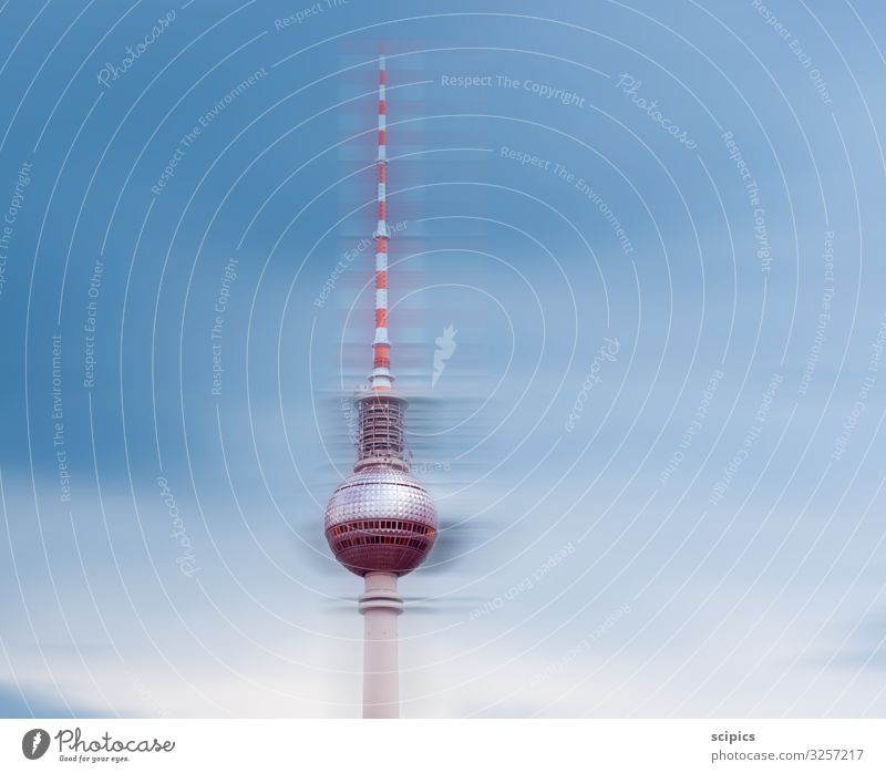 Berlin Television Tower Design Tourism Trip Sightseeing Economy Services Advertising Industry Construction site Business Company Architecture Sky Clouds Glass
