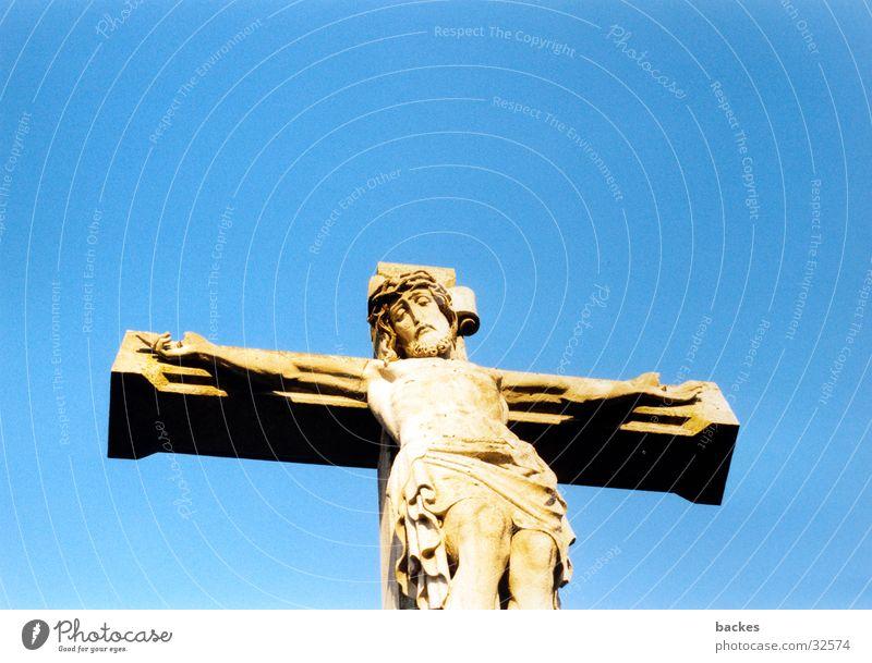 Sky Blue Back Historic Jesus Christ