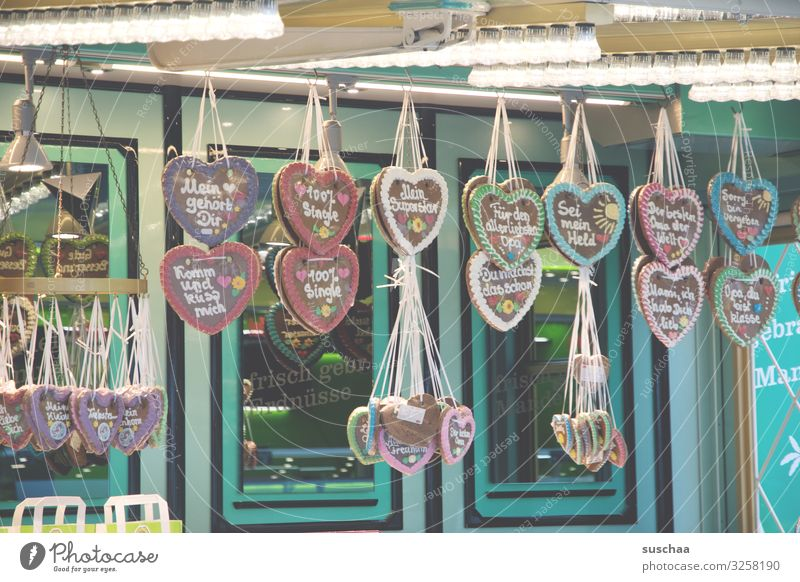 spruchfabrik Gingerbread Gingerbread heart Figure of speech Lettering Text Baked goods Fairs & Carnivals Oktoberfest Donate Love Affection Infatuation Romance