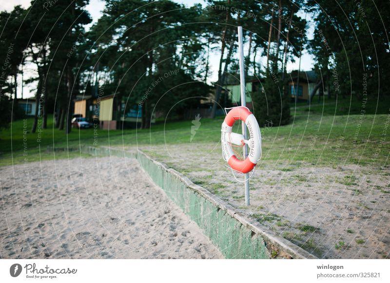 Lifebelt on the beach Healthy Wellness Calm Swimming & Bathing Vacation & Travel Freedom Summer Summer vacation Beach Aquatics Sailing dlg