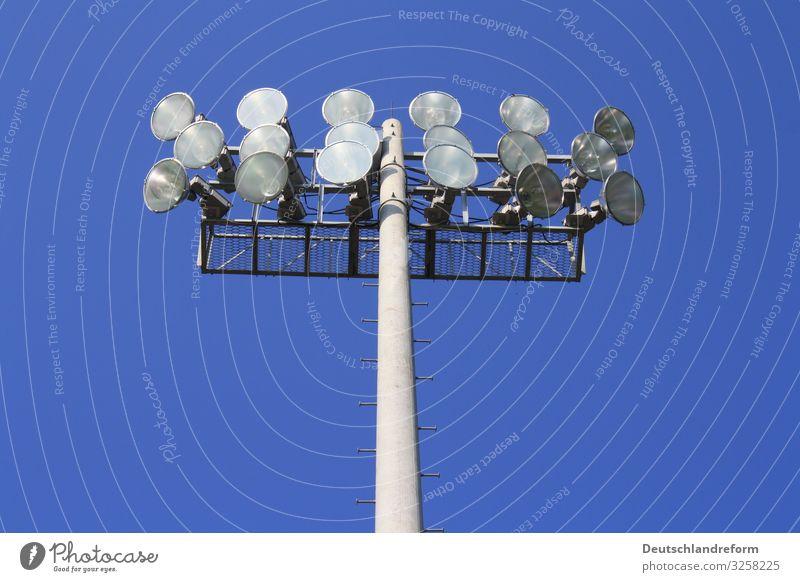 Blue Lighting Gray Technology Large Round Stadium Floodlight Sporting Complex