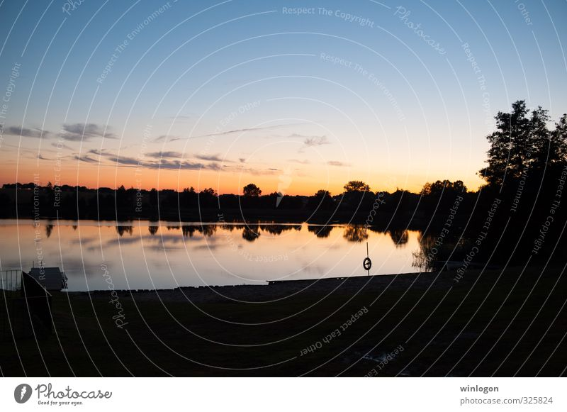 sunset Life Harmonious Well-being Contentment Senses Relaxation Calm Meditation Fishing (Angle) Summer vacation Education Nature Landscape Elements Water