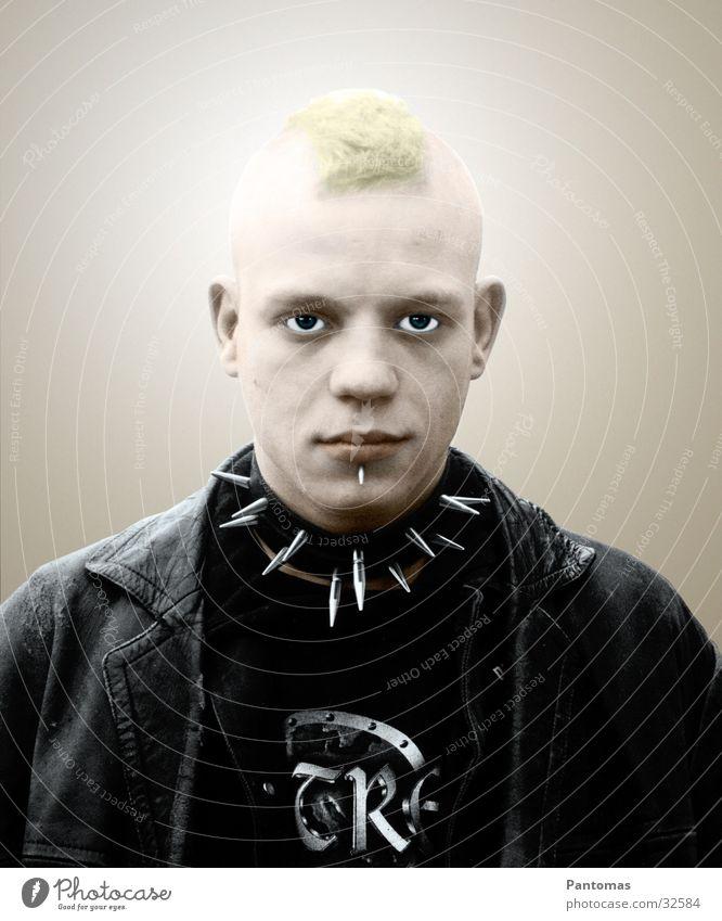 Christoph Schröter Portrait photograph Art Man Manipulation Text Punk Human being