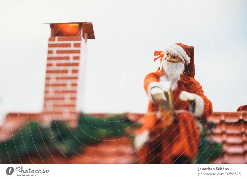 Santa Claus doesn't fit in chimney Feasts & Celebrations Christmas & Advent Warm-heartedness Peaceful Humanity Hope Public Holiday Christmas decoration