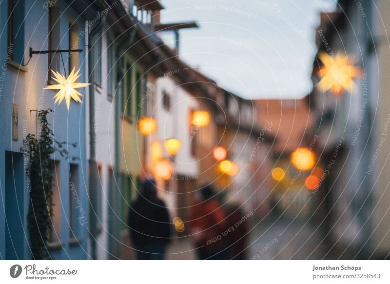 Human being Sky Christmas & Advent House (Residential Structure) Lighting Feasts & Celebrations Tourism Lamp Illuminate Walking Star (Symbol) Warm-heartedness