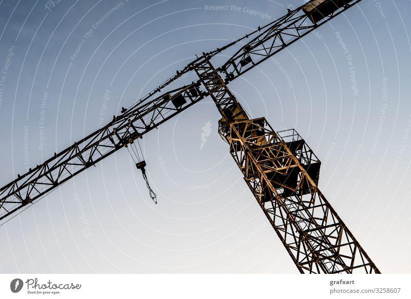 Detail Of Yellow Construction Crane architecture background bird building business cabin cable cargo construction crane development economic economy elevator