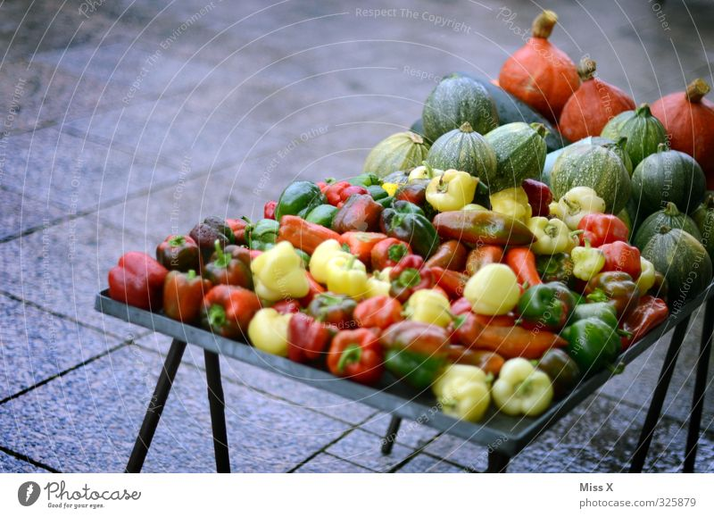 Colourful and healthy Food Vegetable Nutrition Organic produce Vegetarian diet Diet Shopping Fresh Healthy Delicious Multicoloured Healthy Eating Pumpkin Pepper