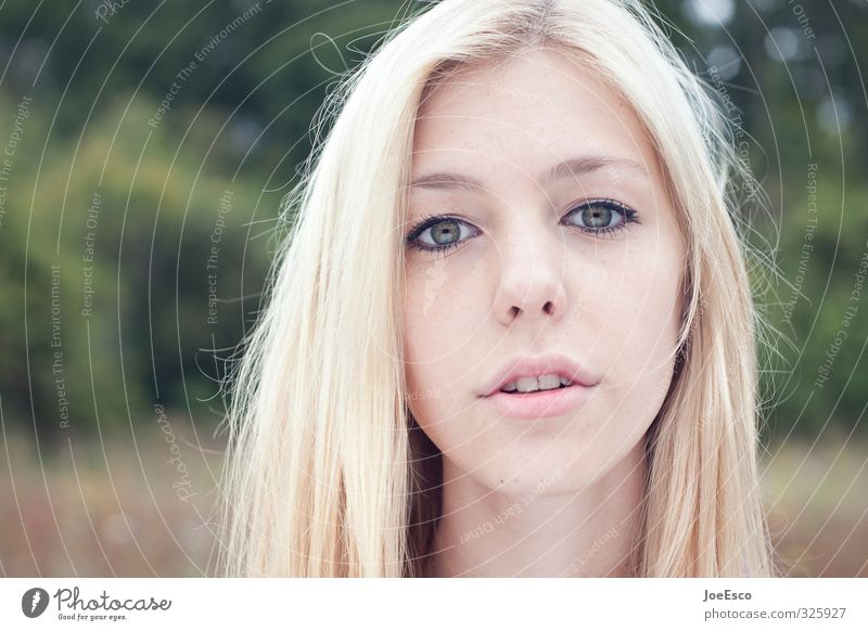 Human being Woman Nature Youth (Young adults) Beautiful Young woman Forest Face Adults Life Emotions Natural Dream Field Blonde Lifestyle