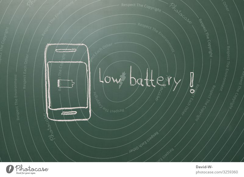 low battery mobile phone battery faint Battery Battery all empty battery Signage point Clue esteem Problem Attention! Technology Development Energy industry