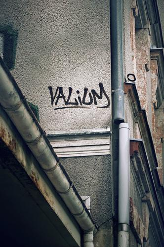 valium Graffiti Wall (building) Text Word Valium Diazepam Medication Comforting anxiety states Therapy psychoactive Dependence Intoxicant sleeping pills