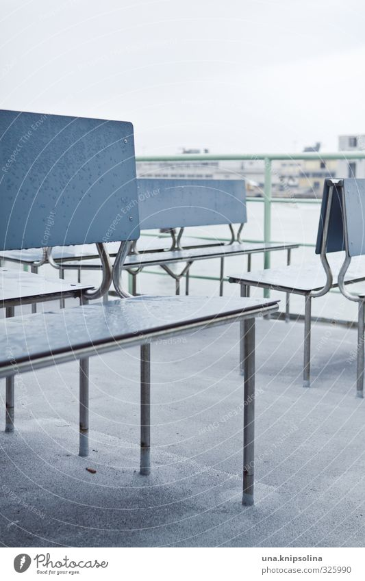ferry. Vacation & Travel Tourism Water Navigation Boating trip Ferry Simple Wet Blue Bench Sit Empty Colour photo Subdued colour Exterior shot Detail Deserted