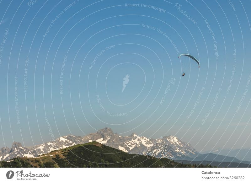 Sky Blue Green White Landscape Joy Mountain Spring Sports Happy Gray Pink Flying Leisure and hobbies Horizon To enjoy