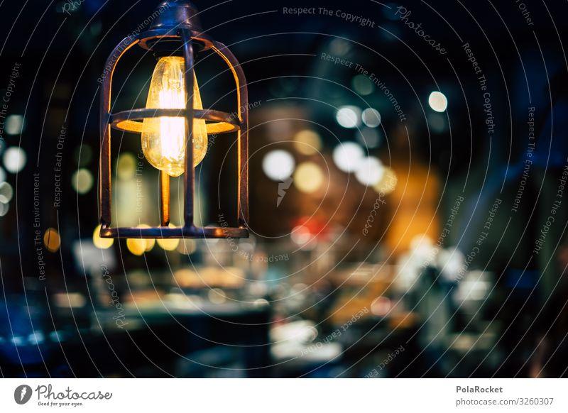 #S# Nostalgia Lamp Art Esthetic Lampshade Visual spectacle Blur Coffee Light Hanging lamp Belief Hope Warmth Shop window Lighting element Interior shot
