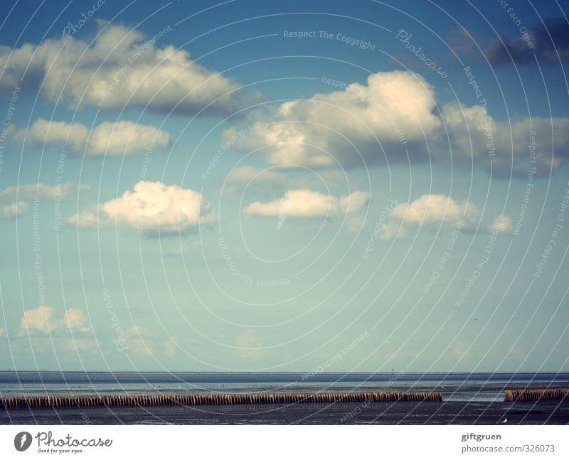 Sky Nature Blue Water Ocean Landscape Clouds Beach Far-off places Environment Coast Sand Horizon Beautiful weather Elements Baltic Sea