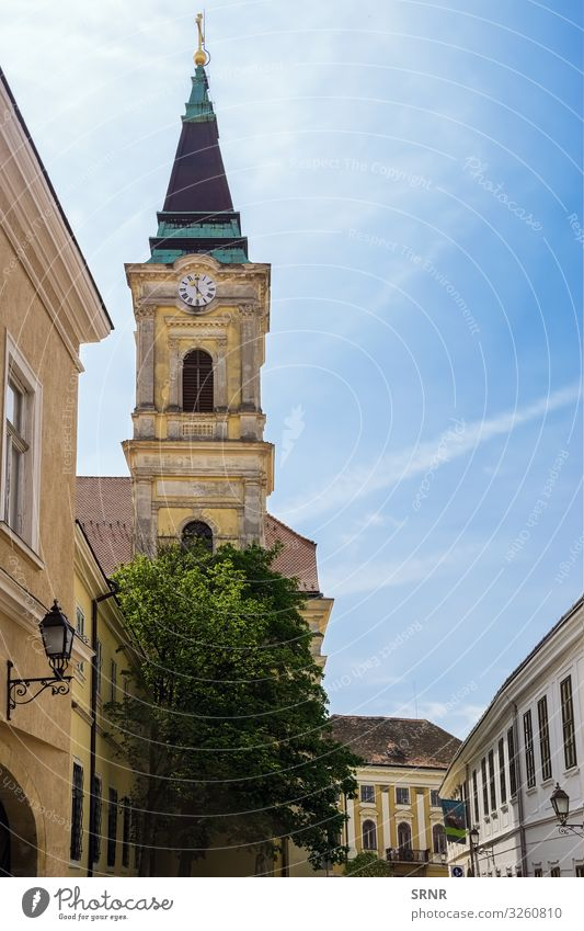 Catholic Church Vacation & Travel Tourism Trip Sightseeing Hiking Clock Town Old town Building Architecture Belief Religion and faith belfry bell tower Chapel