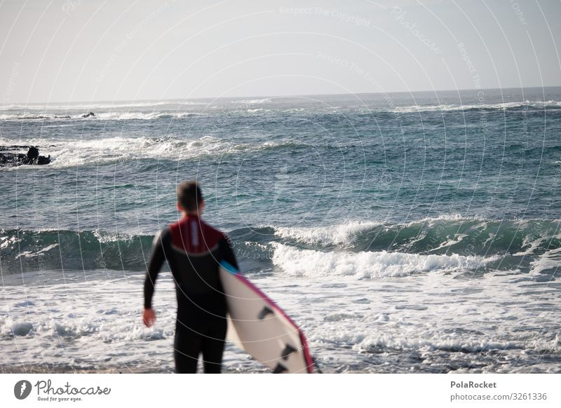 #AS# into Art Esthetic Ocean Surfing Surfer Surfboard Surf school Waves Undulation Vacation photo Vacation mood Colour photo Subdued colour Exterior shot