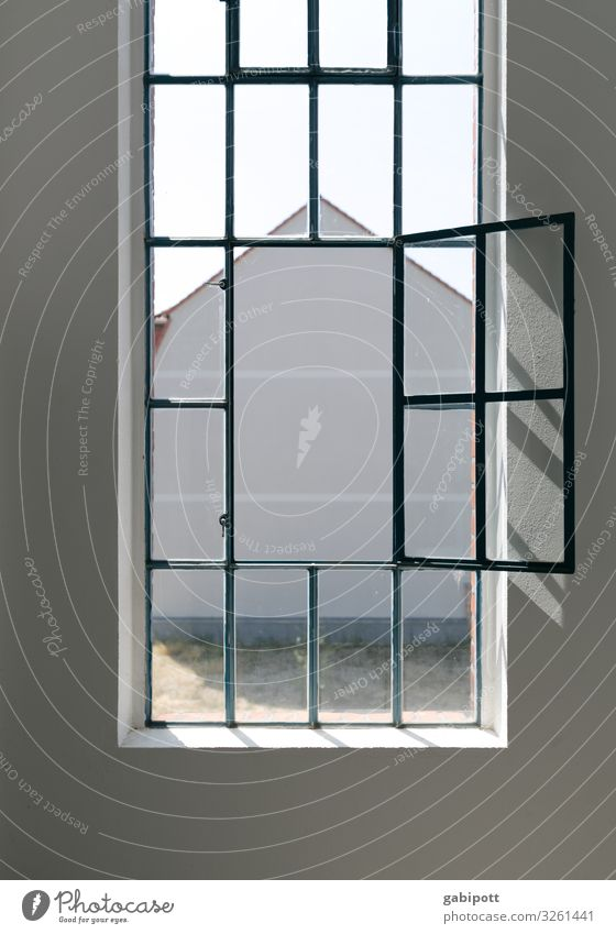 Old Town House (Residential Structure) Window Wall (building) Wall (barrier) Facade Living or residing Bright Fresh Old building Symmetry Industrial plant Airy
