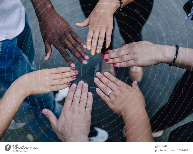 For diversity and respect! Hand Uniqueness Positive Multicoloured Colour Identity Culture Life Joie de vivre (Vitality) Teamwork Versatile Human being Tolerant