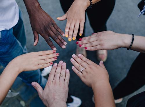 For diversity and respect! Hand Uniqueness Positive Multicoloured Colour Identity Culture Life Joie de vivre (Vitality) Teamwork Versatile Human being Tolerant
