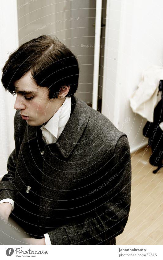 Man Piano Old fashioned Make music