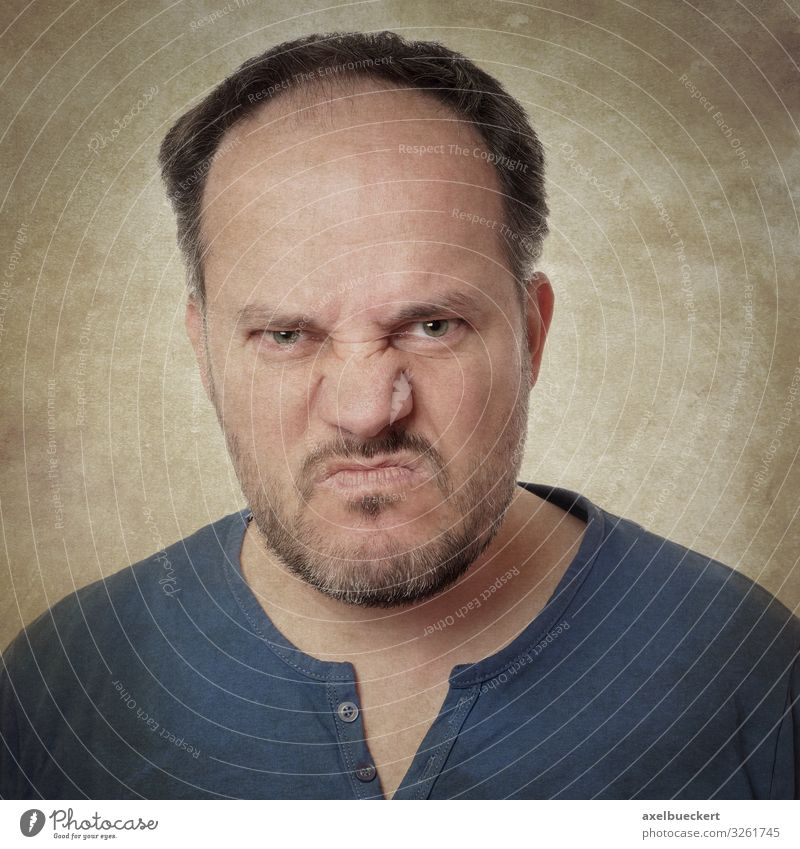 Human being Man Adults Emotions Masculine T-shirt Anger Facial hair Black-haired Disgust Aggression Beard Aggravation Short-haired 30 - 45 years