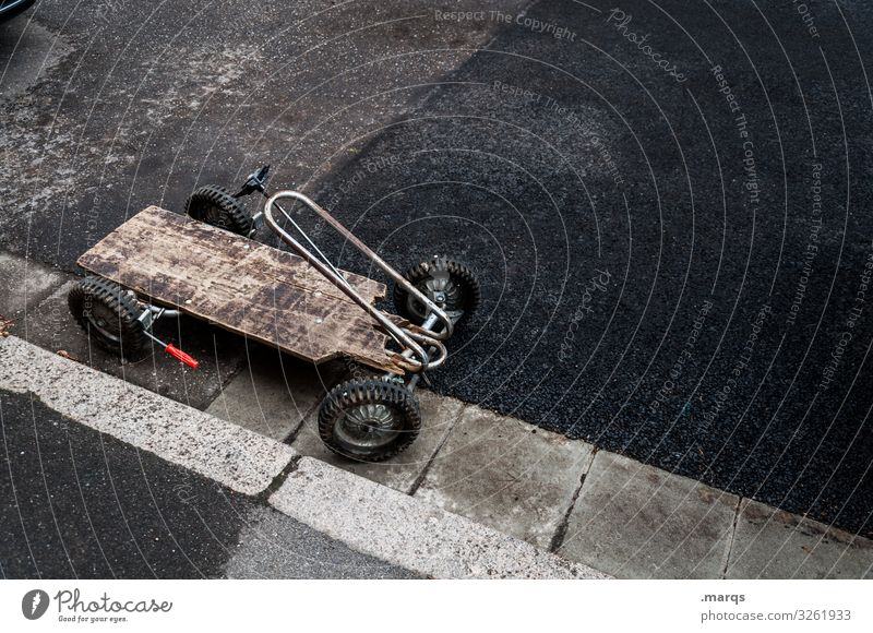 Warp truck Tracked car Infancy Toys soapbox Simple Street Parking Old do-it-yourself construction park Playing conceit Roadside Retro Mobility Childhood memory