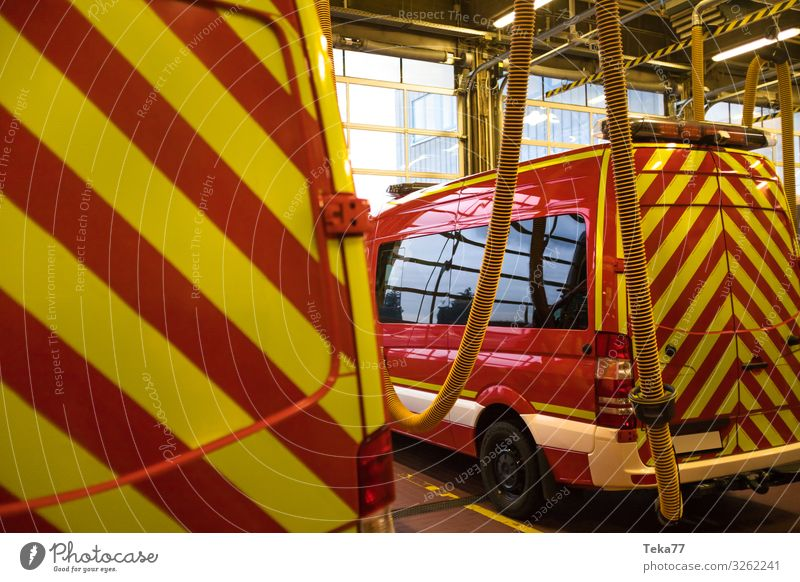 #Fire department 3 Work and employment Profession Transport Means of transport Traffic infrastructure Vehicle Truck Fire engine Yellow Colour photo