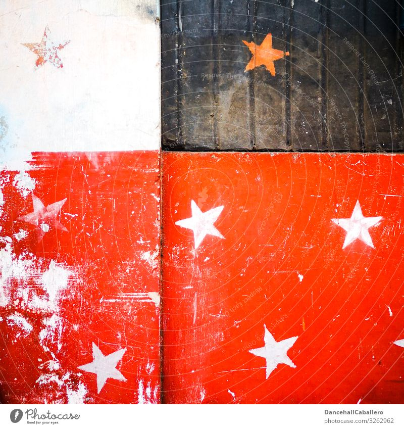 Old Christmas & Advent White Red Black Graffiti Wall (building) Retro Happiness Stars Star (Symbol) Sign Graphic Public Holiday Festive Street art