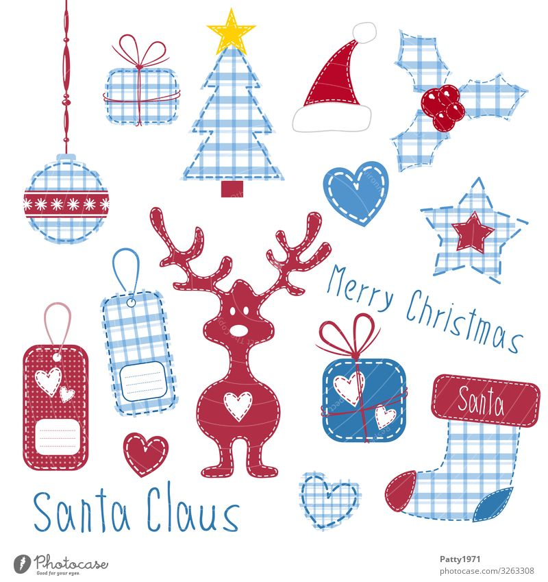 Christmas craft sheet Lifestyle Style Design Leisure and hobbies Handicraft Feasts & Celebrations Christmas & Advent Label Pendant Heart-shaped Reindeer
