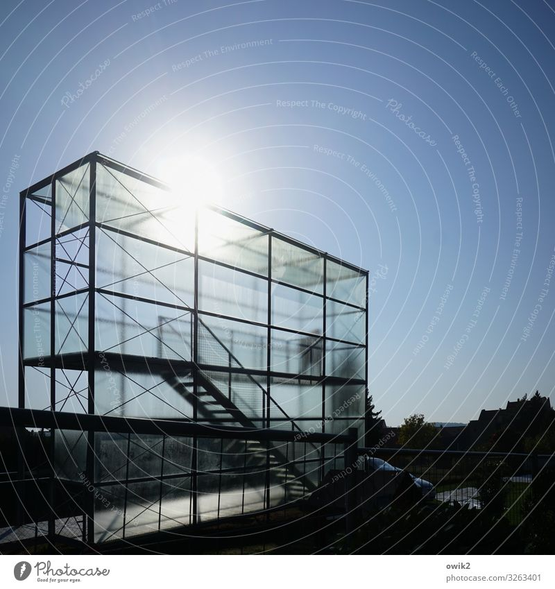 matter of opinion Masculine 1 Human being Cloudless sky Sun Beautiful weather Bamberg Town Downtown Manmade structures Building Vantage point Greenhouse