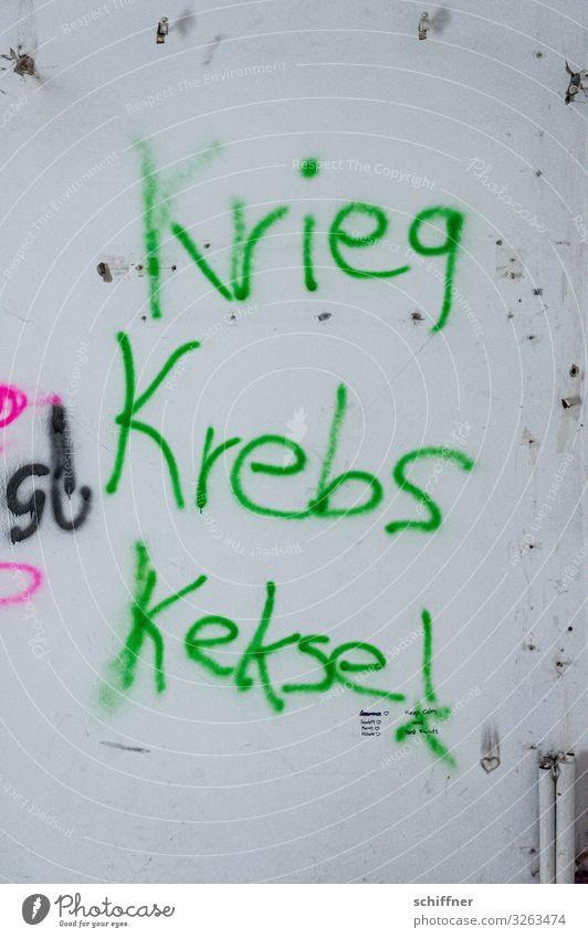 Green Graffiti Wall (building) Wall (barrier) Facade Positive War Cookie Daub Figure of speech Negative Cancer Remark Sprayed Meaningful